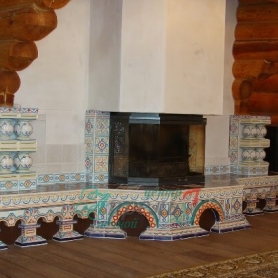 Изразцовый камин Боярский